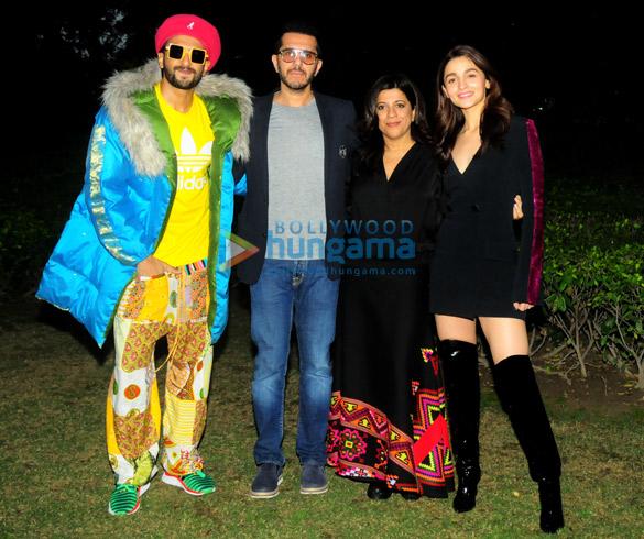 Alia Bhatt, Ranveer Singh, Ritesh Sidhwani and Zoya Akhtar snapped during 'Gully Boy' promotions in Delhi
