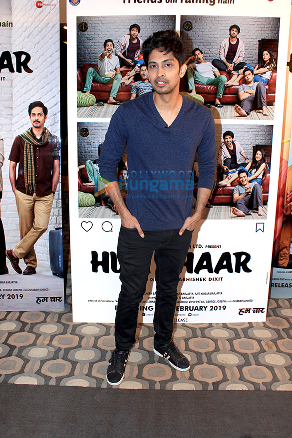 Cast of Hum Chaar snapped during interviews at Sun and Sand hotel in Juhu