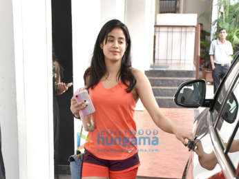 Janhvi Kapoor snapped post gym session in Bandra