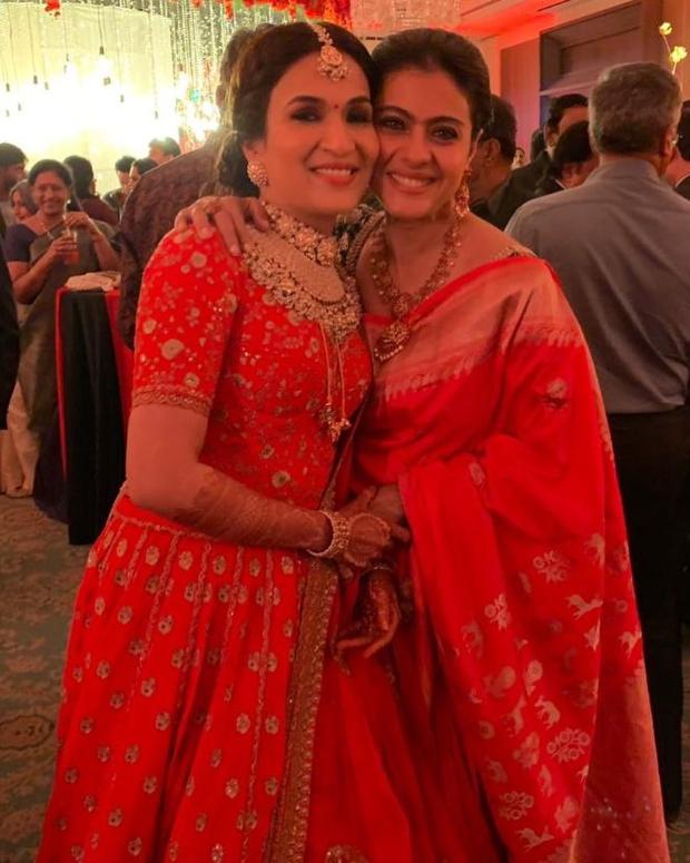 Kajol in Coloroso Weaves Banarasi saree for Soundarya Rajinikanth's wedding in Chennai (1)