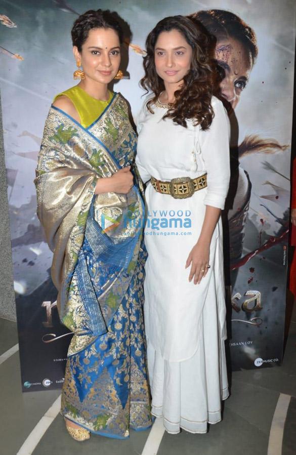 Kangana Ranaut and Ankita Lokhande snapped at Bombay Stock Exchange in Fort (3)