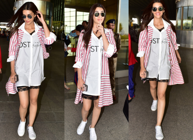 Kriti Sanon in Exhale and Jodi Life at the airport for Luka Chuppi promotions (6)