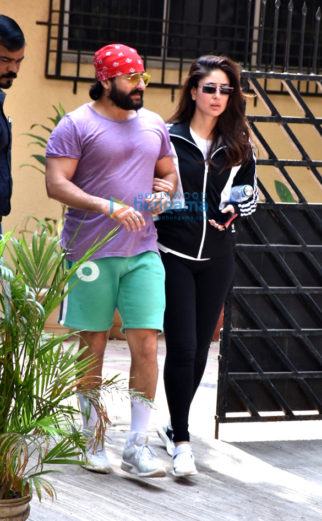 Saif Ali Khan and Kareena Kapoor Khan spotted at the gym in Bandra