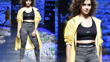Sanya Malhotra for Narendra Kumar x Alcis Sports at LFW 2019 Summer/Resort (Featured)
