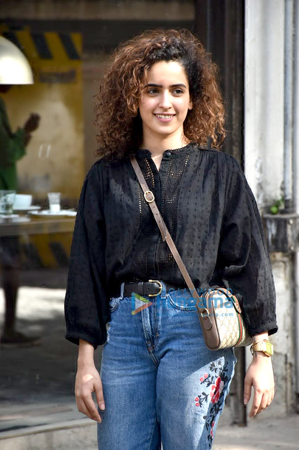 Sanya Malhotra spotted at Silver Beach Cafe, Juhu