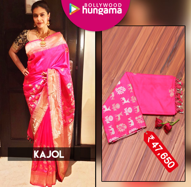 Saree Chic - Kajol in Coloroso Weaves saree for Soundarya Rajinikanth's wedding in Chennai (5)