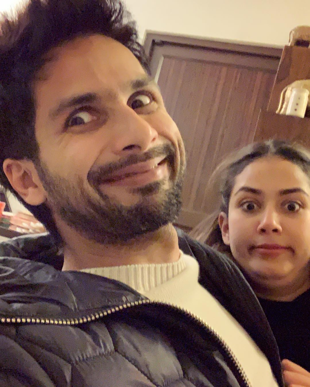 Shahid Kapoor rings in his 38th birthday with cuddles and goofy faces with wife Mira Rajput