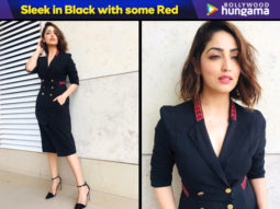 Sleek in Black with some Red - Yami Gautam in Genes trench dress for Uri interviews (Featured)
