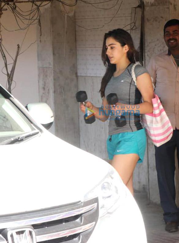 Sonakshi Sinha and Sara Ali Khan spotted at gym in Khar