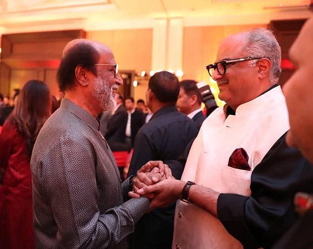 Kajol, Boney Kapoor and other celebrities attend the high profile wedding of Soundarya Rajinikanth and Vishagan Vanangamudi