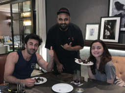 "Ever since Ranbir Kapoor and Alia Bhatt started filming Ayan Mukerji's Brahmastra, the rumors about their alleged relationship have been the talk of the town. It has been a year since they began dating while not publicly accepting it yet. But, their date nights, appearances and holidays are proof that they are enjoying their time together. While the world was celebrating Valentine's Day with their loved ones, Alia and Ranbir chose to enjoy an intimate dinner. Ranbir Kapoor accompanied Alia Bhatt for Gully Boy screening February 13. Instead of going out, the couple decided to enjoy a three-course meal during their dinner date on Valentine's Day. A well-known chef, Harsh Dixit, prepared the meal for them and shared a picture with Ranbir and Alia as they enjoyed the dessert. The two of them kept it casual instead of opting for fancy party wear. Harsh wrote, ""Happy Valentine's Day ❤️ All smiles post a #NotSoNasty 3 course valentines dinner. The menu tonight included a bunch of aphrodisiacs like red chillies, avocado, cinnamon, garlic, asparagus, truffle, salmon, chocolate, cherries, vanilla and lots of ❤️ Obviously #ZeroSugar coz #Diet."" On the work front, Alia Bhatt is seen in Zoya Akhtar's Gully Boy starring alongside Ranveer Singh. The film is set for Valentine's Day 2019 release. She will resume shooting for Ayan Mukerji's Brahmastra soon which stars Ranbir Kapoor. The film is set for Christmas 2019 release."