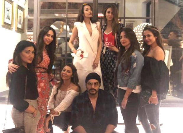 Arjun Kapoor accompanies GIRLFRIEND Malaika Arora for her ladies night with Gauri Khan and Karisma Kapoor