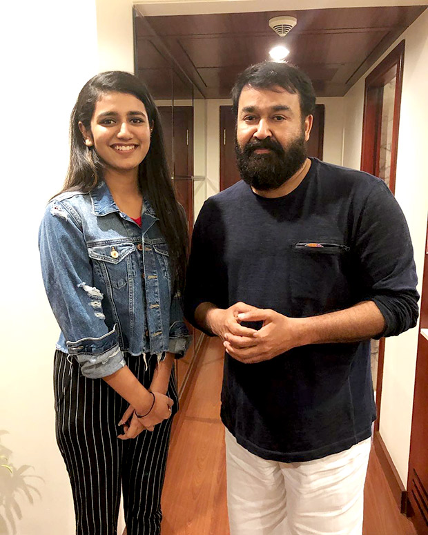 Priya Prakash Varrier has a fangirl moment again and this time it is not with Ranveer Singh or Vicky Kaushal but Malayalam superstar Mohanlal