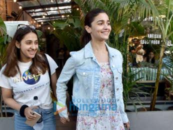 Alia Bhatt and Akansha Ranjan Kapoor snapped at Kitchen Garden, Juhu