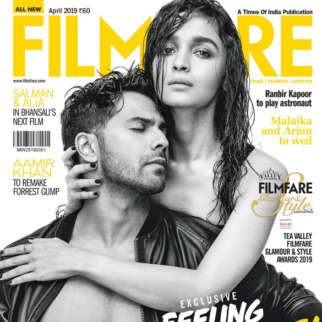 Varun Dhawan and Alia Bhatt on the cover of Filmfare, Apr 2019