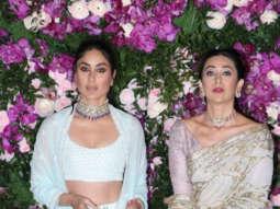 Kareena Kapoor and Karisma Kapoor DASHING Entry at Akash - Shloka Wedding Reception