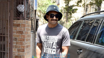 Ranveer Singh snapped outside a recording studio