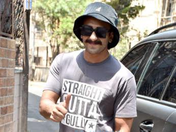 Ranveer Singh snapped outside a recording studio