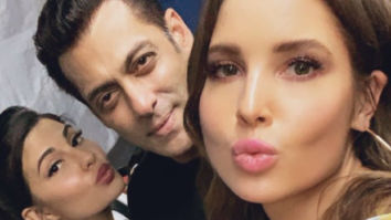 Salman Khan hangs out with Jacqueline Fernandez and her doppelganger Amanda Cerny at Notebook screening