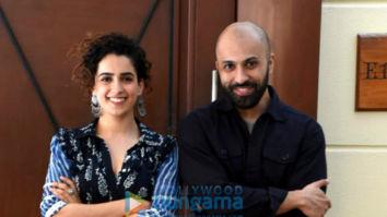 Sanya Malhotra and Ritesh Batra snapped during Photograph press meet