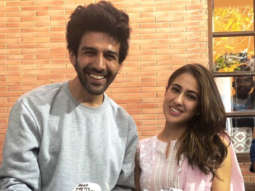 Sara Ali Khan and Kartik Aaryan celebrate their Filmfare Awards and Zee Cine Awards win on Imtiaz Ali's film set