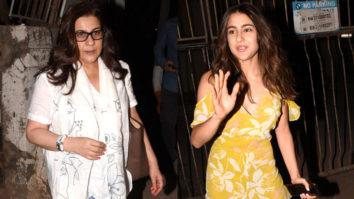 Sara Ali Khan and mother Amrita Arora Spotted at Kromakay Salon, Juhu
