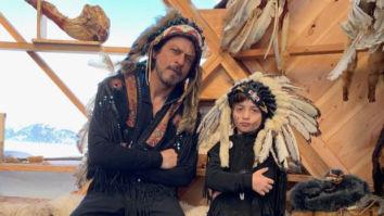 Shah Rukh Khan and AbRam Khan bring out their swag in war bonnets