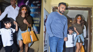 Shilpa Shetty SPOTTED with family at PVR, Juhu (2)