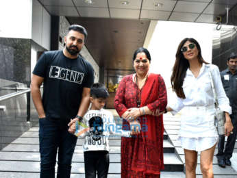 Shilpa Shetty and family spotted at Hakkasan in Bandra