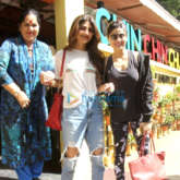 Shilpa Shetty snapped with her family at Chin Chin Chu restaurant in Juhu