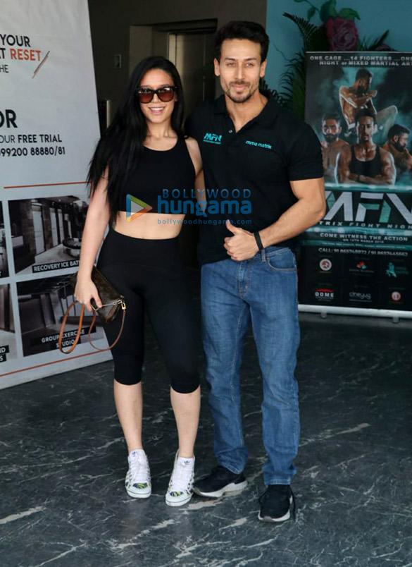 Tiger Shroff and Krishna Shroff promote Matrix Fight Night at MMA Matrix in Bandra
