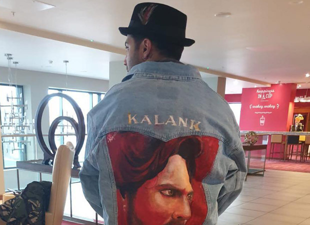 Varun Dhawan's fans raise the fangirling bar high as they gift him a hand painted jacket for Kalank