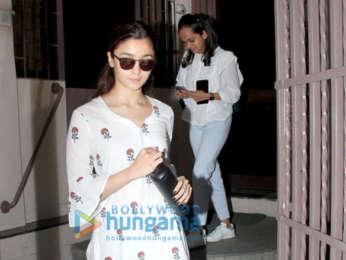 Alia Bhatt spotted at a dubbing studio in Bandra