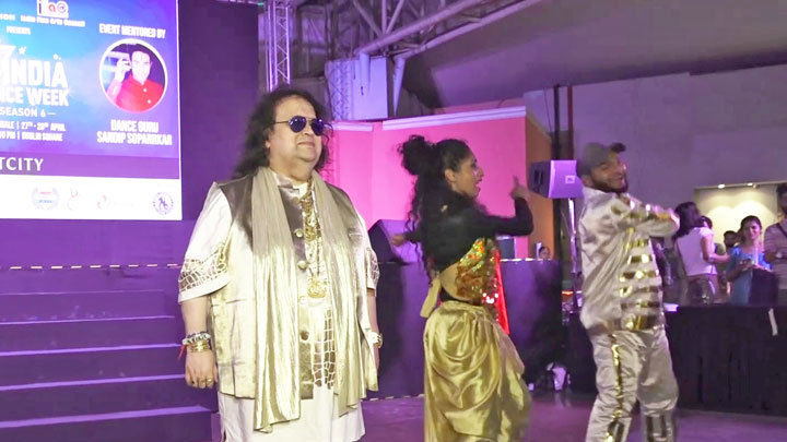 Bappi Lahiri attend Lamplighting Ceremony of India Dance Week Season 6 at Phoenix Market City, Kurla