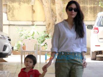 Kareena Kapoor Khan and Taimur Ali Khan snapped outside a school in Bandra