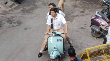 LEAKED PHOTOS! Kartik Aaryan sports a school uniform and clean shaven look for Love Aaj Kal 2 in Udaipur