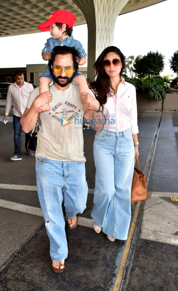 Saif Ali Khan, Taimur Ali Khan, Kareena Kapoor Khan, Rajinikanth and others snapped at the airport (1)