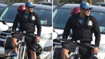 Salman Khan goes cycling on the streets of Mumbai, leaves the fans surprised