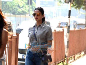 Sonal Chauhan snapped outside Skyfire producer Shabina Khan's office