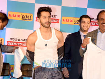 Varun Dhawan graces the launch of Lux Cozi Scented vests