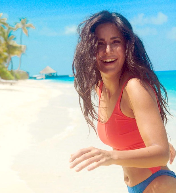 Katrina Kaif raises the temperature in her red-blue swimsuit as she enjoys her holiday in Maldives