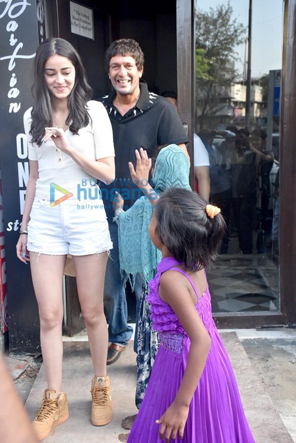 Ananya Panday and family snapped at Bastian in Bandra