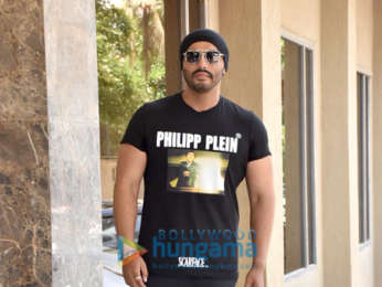 Arjun Kapoor snapped during India's Most Wanted interviews