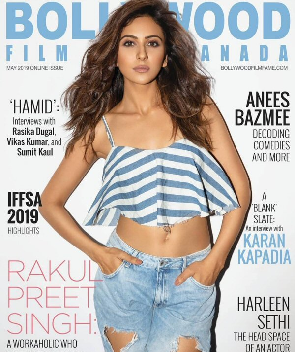 Rakul Preet Singh On The Covers Of Bollywood Film Fame Canada