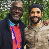 FANBOY ALERT! Farhan Akhtar strikes a pose with cricket legend, Sir Vivian Richards
