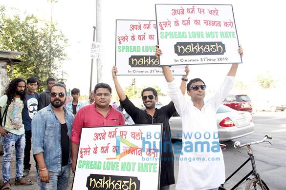 Inaamulhaq & Sharib Hashmi promote 'Nakkash' on cycle in Mumbai (4)