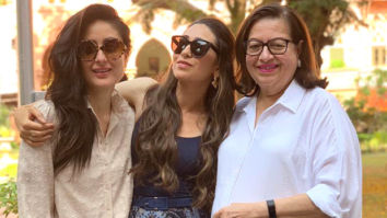 Karisma Kapoor and Kareena Kapoor Khan look stunning in this picture with their mother, Babita