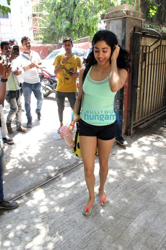 Photos: Janhvi Kapoor, Malaika Arora and Georgia Andriani spotted at the Pilates gym in Khar