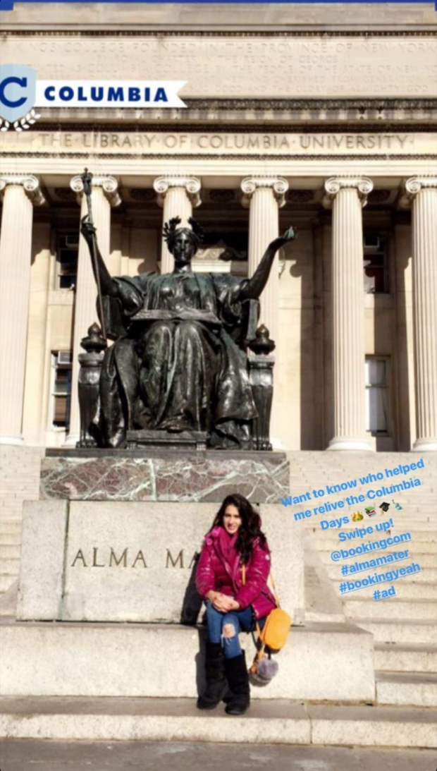 Sara Ali Khan shares a throwback picture from her Alma Mater