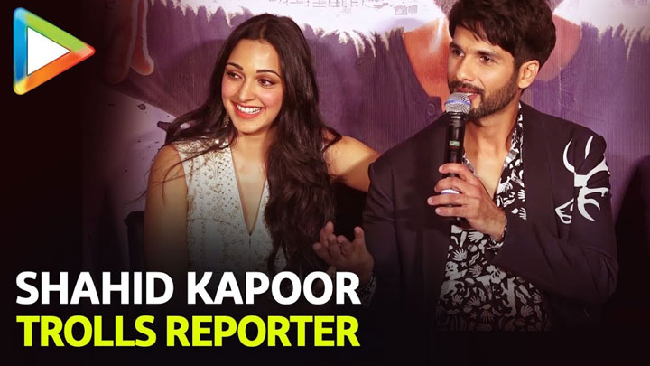 Shahid Kapoor TROLLS Reporter For Asking about KISSING Kiara Advani Kabir Singh